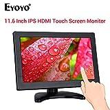 "Eyoyo 12"" IPS 1920 * 1080 HD Touch Screen Monitor Display Screen VGA for PC CCTV"