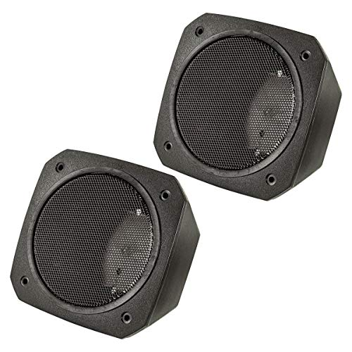 tomzz Audio 2800-017 Aufbau Lautsprecher Gehäuse für 100x100 mm DIN Lautsprecher, Retro, KFZ, Boot, LKW, Baumaschinen