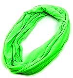 Schal XL Schals Damen Herren Scarfs Neon Loop Scarf Schal Winter Schals Rundschal Sommer-Schal (neon green) 4551