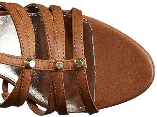 Madden Girl Brazennn Gladiator Sandal Cognac Paris