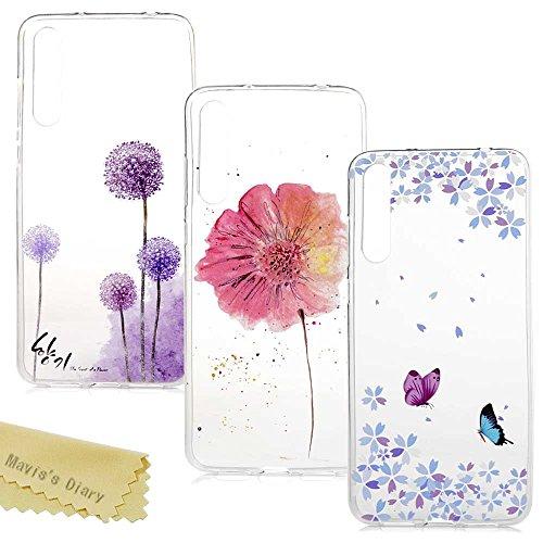Huawei P20 Pro Hülle Case Mavis's Diary Handyhülle Transparent Silikon Cover Malen Tasche TPU Durchsichtige Schutzhülle Rückhülle Softcase Handytasche Skin Schale Stoßdämpfend Bumper*3 Hüllen-Set5