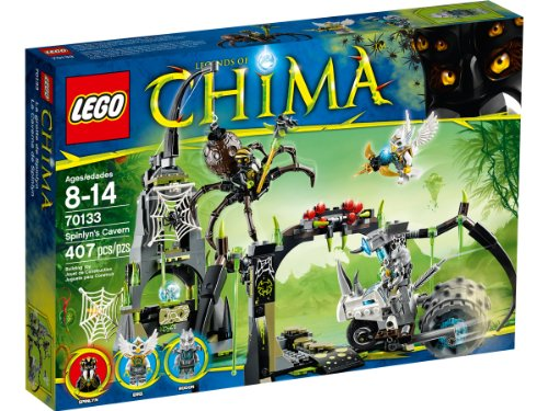 LEGO Legends of Chima - Playthèmes - 70133 - Jeu De Construction - La Grotte de Spinlyn