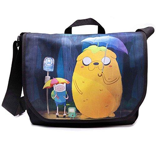 Adventure Time Finn and Jake Nue offiziell Schwarz Totoro Umhängetasche