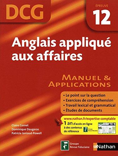 ANGLAIS APPL AFF EP 12 DCG EL