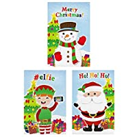 Oxford Novelties 24 Kids Xmas Christmas Party Filler Mini Notepads Books With 3D STICKERS