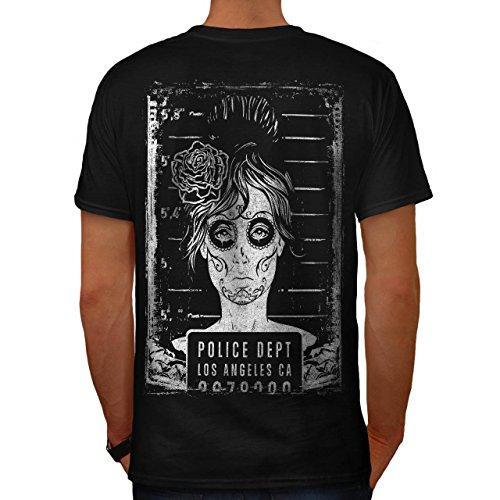 LA Polizei Dept Zombie LA Mädchen Herren M T-shirt Zurück | (Kinder Für Kostüm Polizei Indische)