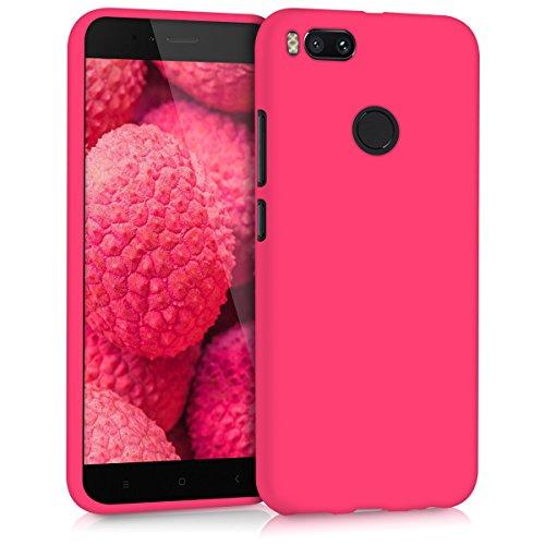 """kwmobile Xiaomi Mi 5X / Mi A1 Hülle - Handyhülle für Xiaomi Mi 5X / Mi A1 - Handy Case in Neon Pink - Fundas para teléfonos móviles (Xiaomi, Mi 5X/Mi A1, 14 cm (5.5""""))"""
