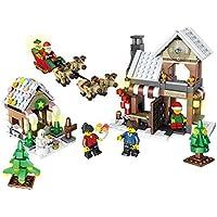Goolsky JJR / C Serie de Navidad 1001 741pcs regalo conjunto juguetes educativos del bloque hueco