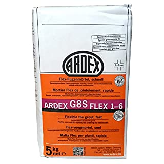 'Ardex G8S Flex Grout 1 – 6 mm 12.5 kg, Colour: Silver Grey Erhärtend Fast and Reliable