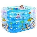 YDYLZC- Kinderwanne/aufblasbarer rutschfester Swimmingpool für Baby-faltbare Reise 3 Farben - 2 Größen verfügbar weich (Farbe : A, größe : 115*95*75cm)