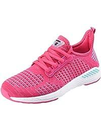 NEOKER Zapatillas de Running Calzado Deporte para Hombre Mujer Gimnasio Ligero Sneakers Negro36-46