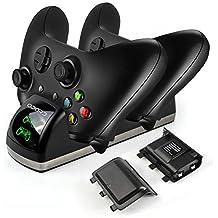 Xbox One Controller akku Ladestation Dual Ladestation mit 2x 1200mAh Akku LED Display für Xbox One / One S / One X