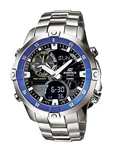 Reloj Casio EMA-100D-1A2VEF analógico de cuarzo para hombre con correa de acero inoxidable, color plateado