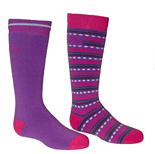 Bridgedale Merino Ski Socken (2er Pack) Medium Purple/Fuchsia -