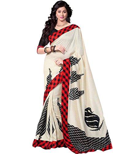 Trendz Cotton Silk Saree(TZ_Red_Chess)
