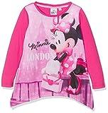 Disney Mädchen T-Shirt Minnie Mouse London, Pink (Fushia 18-2436TC), 3-4 Jahre