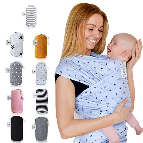 Fastique Kids® Porta Bebè, Bebè Baby Sling Wrap portabebè, Marsupio Neonato Porta Bambino, Imbracature Soffici Per Bamb