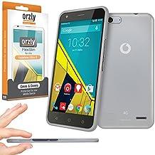 Orzly® - FlexiSlim Case for Vodafone Ultra 6 - Super Slim Funda de Protección en Semi Transparente BLANCO - Diseñado para su uso con el Vodafone Ultra 6 SmartPhone / Teléfono Móvil (2015)