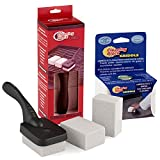 Grillreiniger für Ihren Gasgrill oder Holzkohlegrill, das Grillrost und Arbeitsflächen - Edelstahlreiniger und Topfreiniger - Cleaning Block Grill (1 Halter und 3+1 Putzsteine)