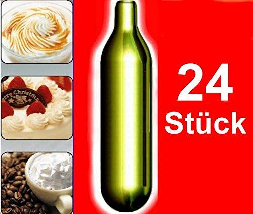 einweg sahnekapseln NEMT 24s 24 Stück N2O Sahnekapseln, passend für alle handelsüblichen Sahnebereiter von Liss, Mosa, iSi, Kayser, Mastrad, Cream Whipper Chargers