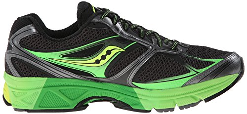 Saucony Mens Guide 8 Running Shoe,Black/Slime/Citron,13 W US Black / Slime / Citron
