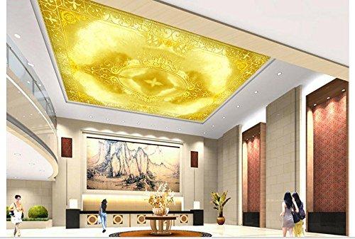 Benutzerdefinierte 3d Fototapete Vlies Golden Luxus begünstigt europäischen Marmor Zenit Deckenwandbilder Tapete