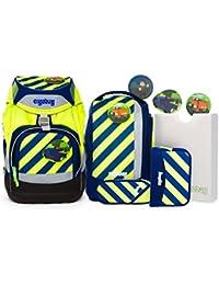 Ergobag Special Edition Neo Schulrucksack-Set Pack 7-tlg IllumiBär 213 neon gelb