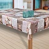 laro Wachstuch-Tischdecke Wachstischdecke Tischwäsche Abwaschbar Meterware Wachstuchdecke |09|, Größe:100x140 cm