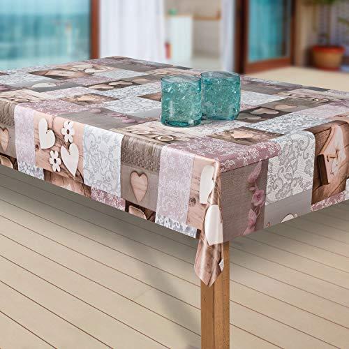 laro Tischdecke Wachstuch Tischläufer Wachstischdecke PVC abwaschbare Tischdecke Wasserabweisend Schutz |09|, Größe:80x100 cm