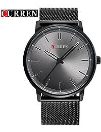 ccuren Unisex Reloj de pulsera de cuarzo de moda con color negro gdfb de malla correa