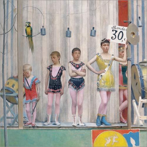 Posterlounge Leinwandbild 80 x 80 cm: Grimaces et misères Les Saltimbanques (Detail) von Fernand Pelez - fertiges Wandbild, Bild auf Keilrahmen, Fertigbild auf echter Leinwand, Leinwanddruck