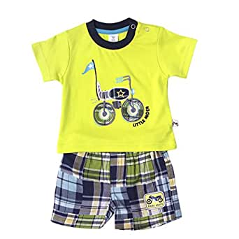 Toffy House Little Rider T-Shirt on Checkered Shorts