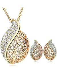 Valentine Gifts : Shining Diva 18k Gold Plated Jewellery Necklace Set With Earrings For Girls And Women | Valentine...