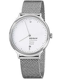 Mondaine Unisex-Armbanduhr Helvetica No1 Light 38mm Analog Quarz MH1.L2210.SM