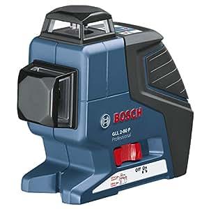 Bosch Professional 0601063205 GLL 2-80 P Niveau laser avec son étui protecteur et trépied BS 150