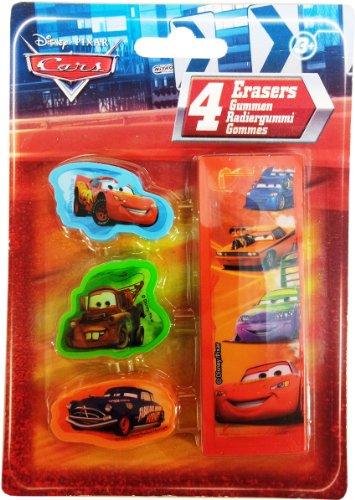 Disney Pixar Cars–4Pack Radierer - Story Toy 4k