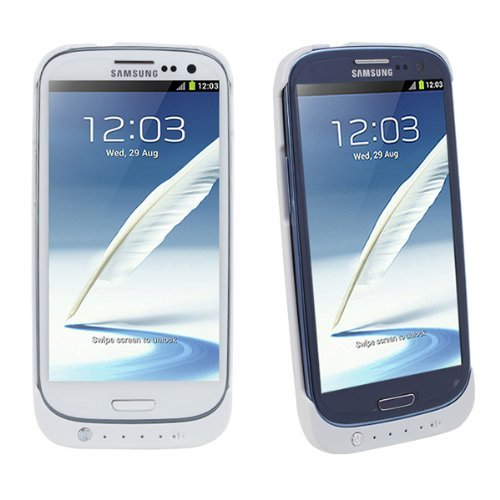 2200mAh External Backup Battery Case Cover For Samsung Galaxy S3 SIII i9300