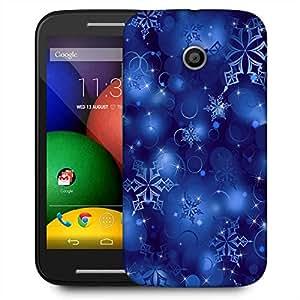 Snoogg Snowflakes 2699 Designer Protective Phone Back Case Cover For Motorola E / Moto E