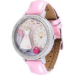 ufengke® strass japanischen schönen armbanduhren für frauen dame mädchen-rosa band hut rock partei thema