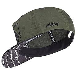 Nebelkind Unisex Snapback Cap Barbed Wire Stacheldraht Kappe Grün One Size