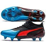 Puma Herren ONE 19.1 Mx SG Fußballschuhe, Blau (Bleu Azur-Red Blast Black), 40 EU