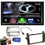 Kenwood DNX-7170DABS Navigation Apple CarPlay Android Auto Bluetooth Freisprecheinrichtung USB MP3 CD DVD Autoradio Naviceiver Touchscreen Einbauset für Mercedes Viano Vito W639