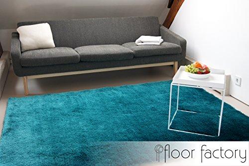 Tappeto Pelo Lungo Turchese : Floor factory tappeto esclusivo moderno satin azzurro turchese