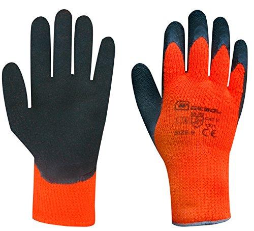 Arbeitshandschuh WINTER GRIP | Größe 10 (XL) | orange/schwarz | schützt vor Kälte | 1 Paar