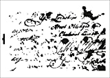 UMR-Design W-411 Letter vintage 3 Wand / Textilschablone Grösse A5