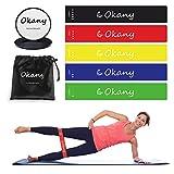 Okany Core Sliders Disques Coulissants et 5 Résistances Double Face pour Bandes d'exercice pour Exercices à Faible Charge afin de Renforcer Les Muscles Abdominaux - pour Hommes et Femmes