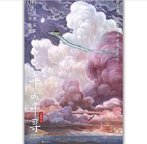 MISSOUL Pintura de Lienzo Spirited Away Anime Movie...