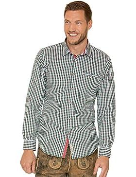 Trachtenhemd Langarm Modern Fit Don Grün
