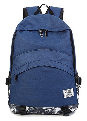 freemaster Fashion tela scuola borsa zaino zaino per teenager ragazze donne uomini Laptop Bag 15,6A4, Blue, Taglia unica
