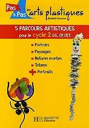 5 parcours artistiques pour le Cycle 2 : Pochoirs, Paysages, Natures mortes, Portraits, Totems